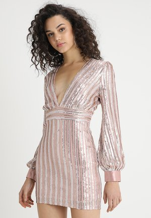 SEQUIN DEEP V DRESS - Vestito elegante - blush