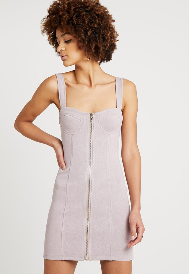 BUSTIER ZIP FRONT MINI DRESS - Etuikleid - lavender