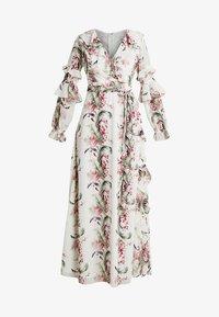 Honey Punch - FLORAL RUFFLE DRESS - Maxi dress - ivory - 4