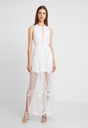 HALTER NECK DRESS - Maxi šaty - white