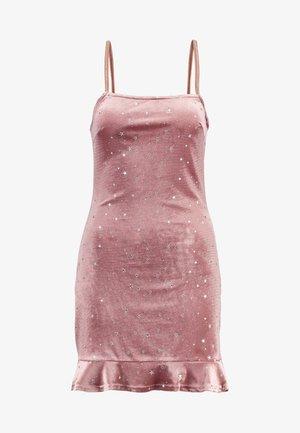 STAR PRINT CAMI DRESS - Denní šaty - mauve