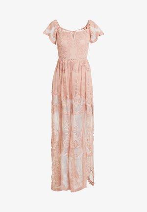 OFF SHOULDER BARDOT DRESS - Robe longue - blush