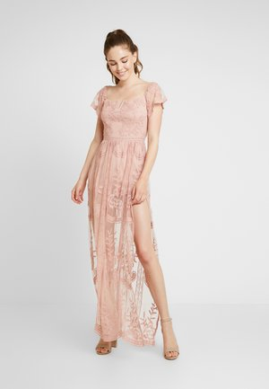 OFF SHOULDER BARDOT DRESS - Vestido largo - blush