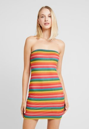 STRIPE TUBE DRESS - Shift dress - multi