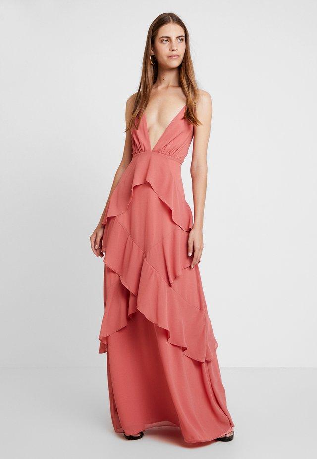 RUFFLE DRESS - Suknia balowa - blush