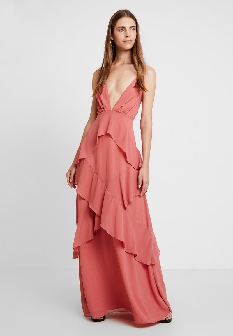 Honey Punch - RUFFLE DRESS - Vestido de fiesta - blush