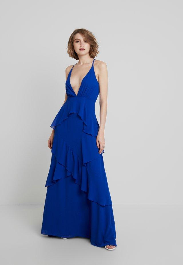 RUFFLE DRESS - Suknia balowa - blue