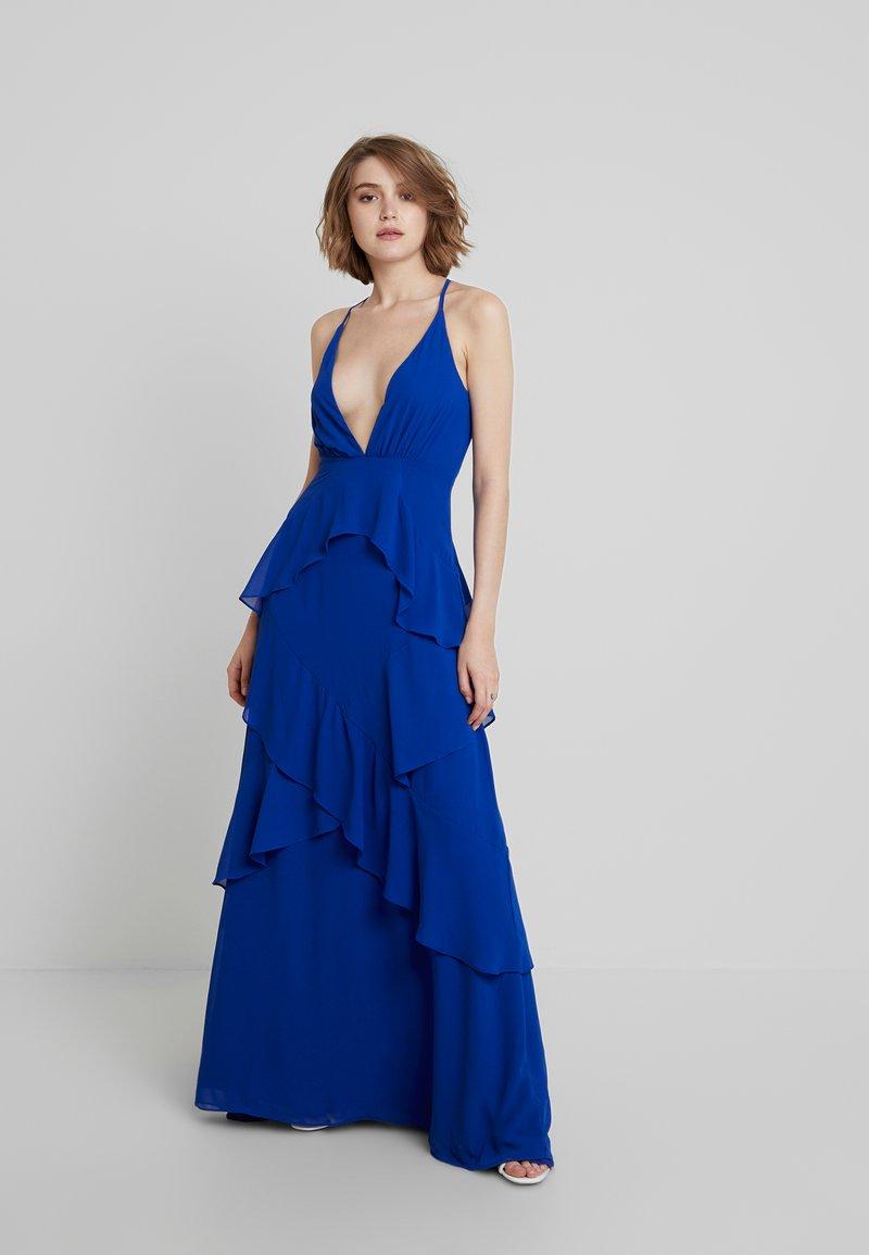 Honey Punch - RUFFLE DRESS - Ballkleid - blue