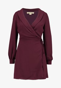 Honey Punch - LONG SLEEVE WRAP FRONT DRESS - Robe d'été - burgundy