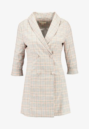PLAID BLAZER MINI DRESS - Denní šaty - orange