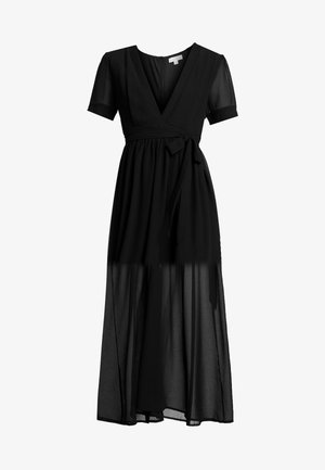 PUFF SLEEVE DRESS - Robe longue - black
