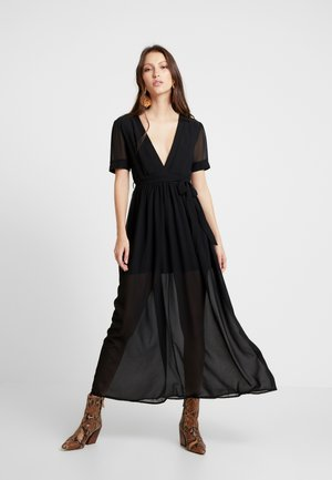 PUFF SLEEVE DRESS - Vestido largo - black