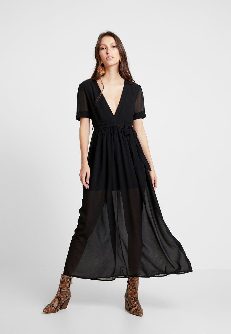 Honey Punch - PUFF SLEEVE DRESS - Vestido largo - black