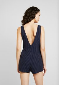 Honey Punch - SLEEVELESS STRIPED DRESS WITH SUITING DETAIL BUTTONS - Day dress - navy - 3
