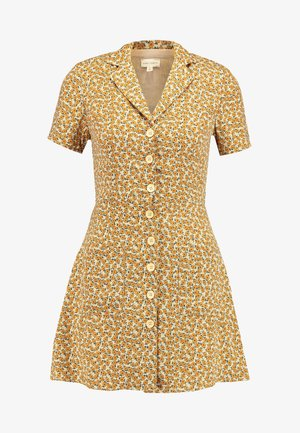 PRINTED SKATER DRESS - Skjortekjole - yellow