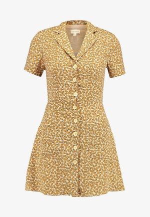 PRINTED SKATER DRESS - Skjortekjole - yellow