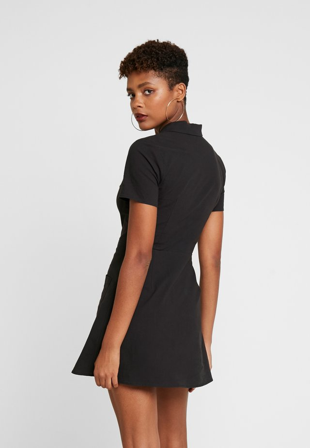 PRINTED SKATER DRESS - Blusenkleid - black