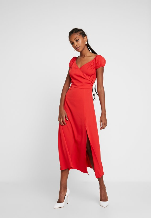 OFF SHOULDER MAXI DRESS - Sukienka z dżerseju - red
