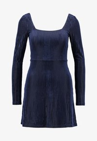 Honey Punch - SKATER DRESS SQUARENECKLINE FITTED SLEEVES - Vapaa-ajan mekko - navy - 4