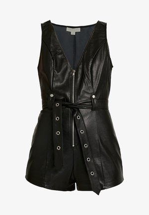 SLEEVELESS ROMPER WITH SELF TIE - Jumpsuit - black