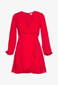 Honey Punch - V NECK WRAP DRESS - Cocktailkjoler / festkjoler - red - 5