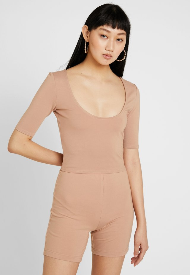 ELBOW SLEEVE  - T-shirt basique - taupe