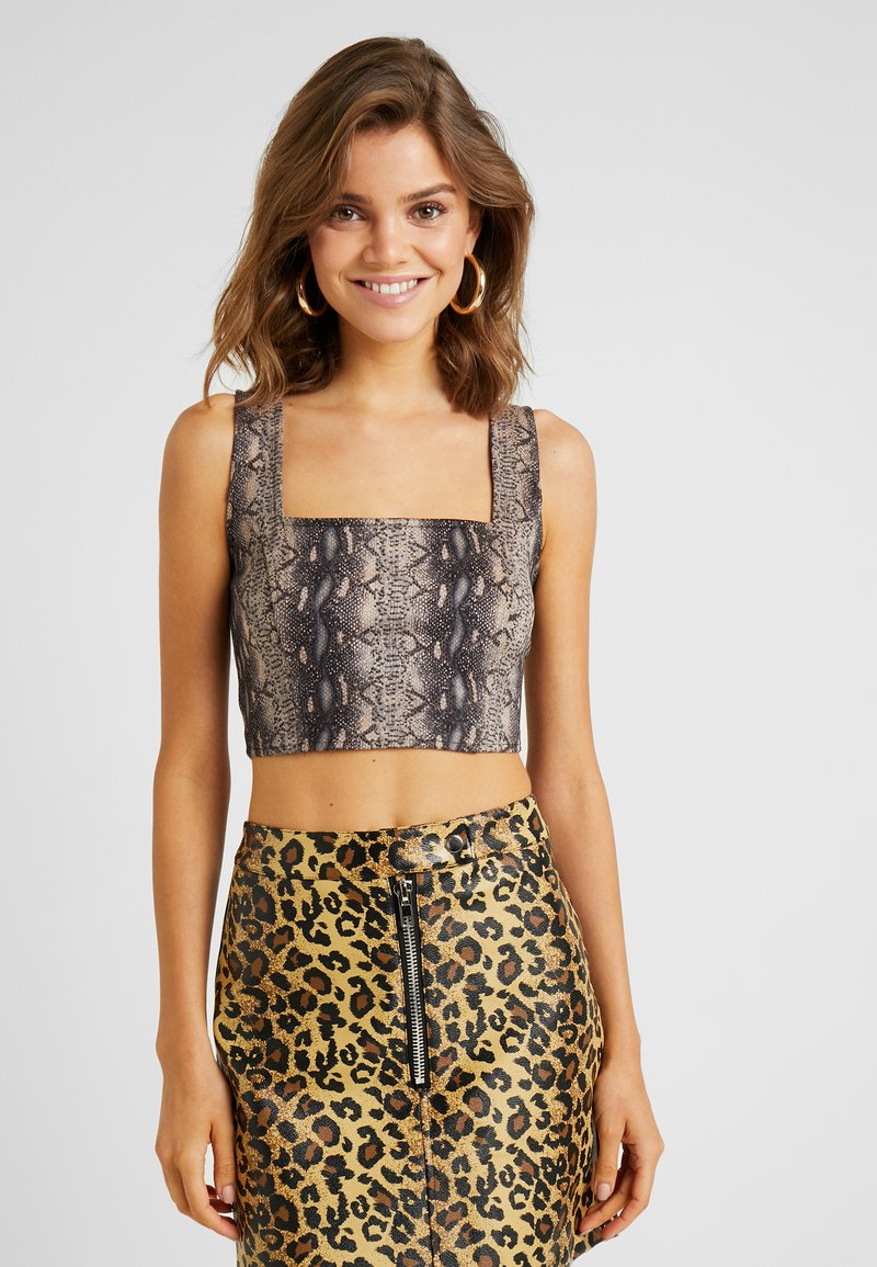 Honey Punch - SNAKE CROP - Top - mauve