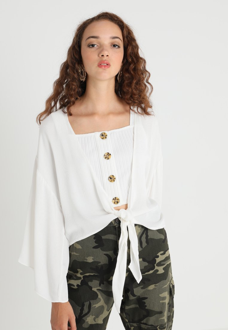 Honey Punch - KNOT BLOUSE - Bluse - ivory