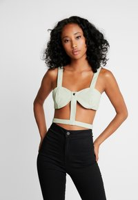 Honey Punch - BUSTIER BANDAGE CROP - Camicetta - soft green - 0