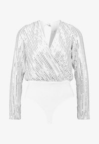 Honey Punch - LONG SLEEVE WRAP SUIT - Bluser - white - 3