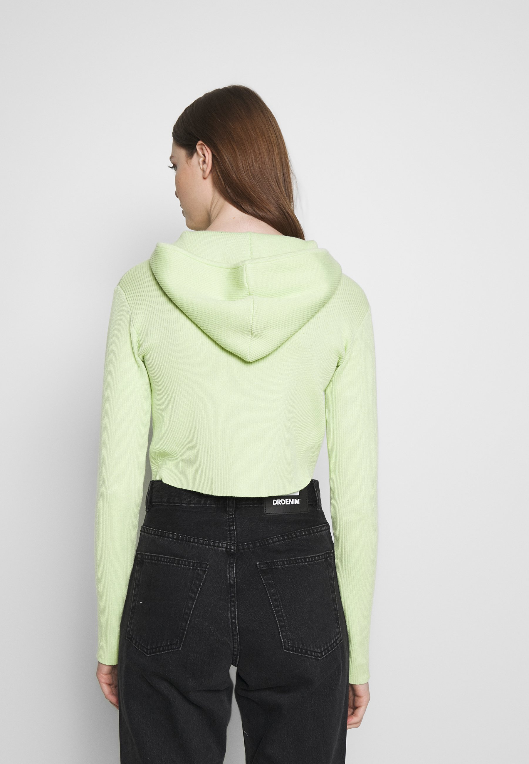 Honey Punch ZIP UP HOODY - Kardigan - lime