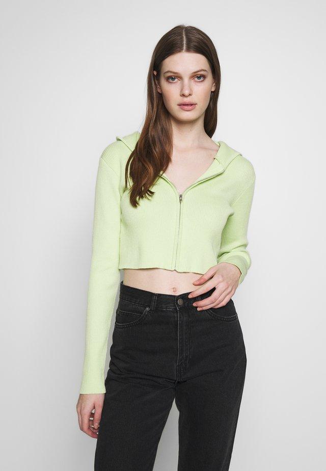 ZIP UP HOODY - Vest - lime