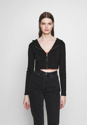 ZIP UP HOODY - Vest - black