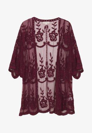 SHORT KIMONO - Summer jacket - burgundy