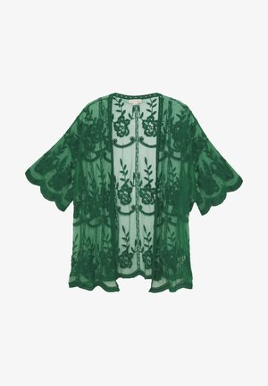 SHORT KIMONO - Summer jacket - emerald