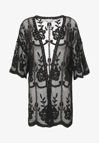 Honey Punch - SHORT KIMONO - Veste légère - black - 5