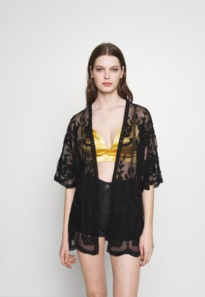 SHORT KIMONO - Lehká bunda - black