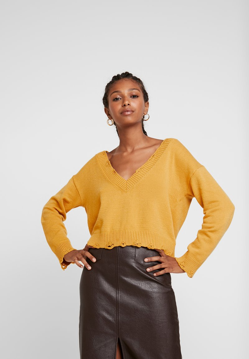 Honey Punch - VJUMPER CROPPED - Maglione - mustard