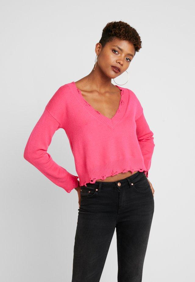 VJUMPER CROPPED - Trui - hot pink