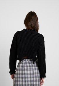 Honey Punch - UNEVEN HEM - Pullover - black - 2
