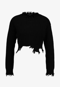 Honey Punch - UNEVEN HEM - Pullover - black - 3