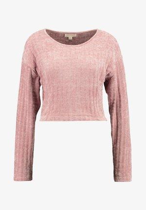 CROP - Strikkegenser - pink