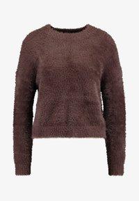 Honey Punch - EYELASH CREWNECK - Stickad tröja - chocolate - 4