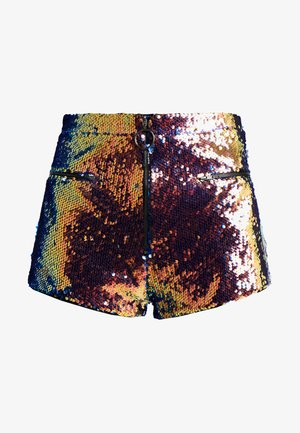 HIGH WAISTED SEQUIN SHORTS - Shorts - red