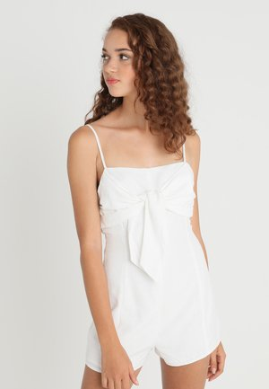 TIE FRONT BOW ROMPER - Overall / Jumpsuit - white