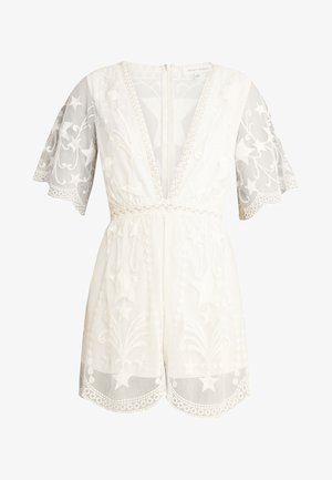 EMBROIDERED VNECK DRESS - Overall / Jumpsuit - cream
