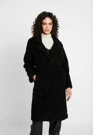 COLLARED COAT - Wintermantel - black