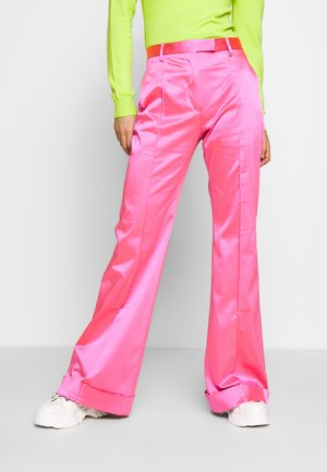 FLARED TAILORED TROUSER - Kangashousut - pink