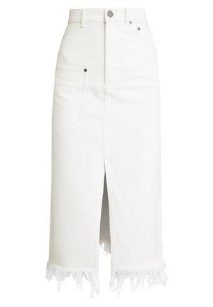WHITE MIDI SKIRT - A-line skirt - white