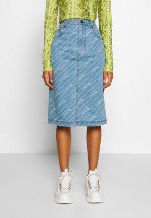 MONOGRAM SKIRT - Pencil skirt - light blue